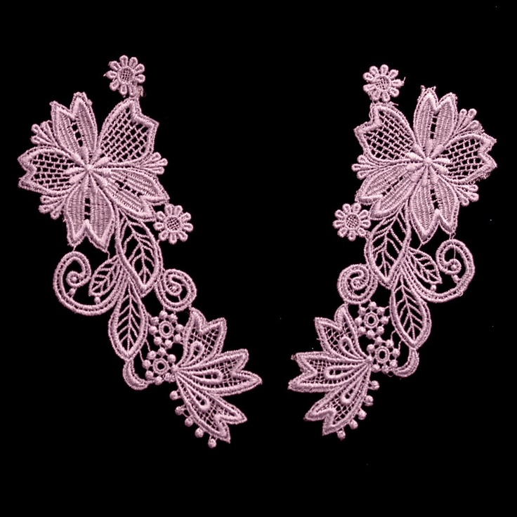 Vintage Lace Venise Lace Applique Lavender (Only One Pair Available) sku# L5004  $10.00