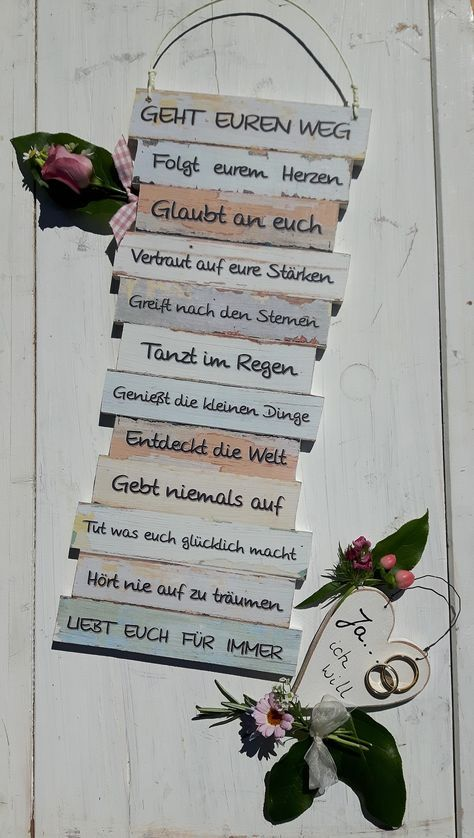 Schild – Geht Euren Weg – Geschenk Hochzeit – zur Hochzeit – Boho – Brautpaar – Hochzeitsgeschenk – give-away – Trauzeuge – Trauzeugin