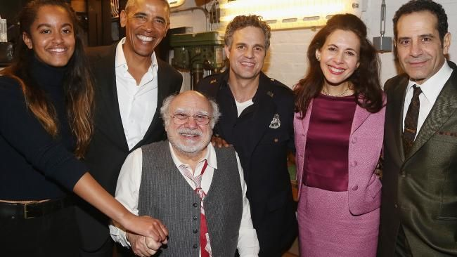 The Obamas met up with the cast of Arthur Miller's 'The Price' after the show. The former world leader was recently photographed attending The Price on Broadway with his daughter Malia and is looking like the weight of the world has finally been lifted off his shoulders. The former President linked up with the star-studded cast after the hit stage show taking photographs with the likes of Danny DeVito, Mark Ruffalo, Tony Shalhoub and Jessica Hecht.