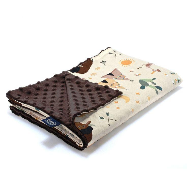 Λεπτή Κουβερτούλα Buffalo - Chocolate