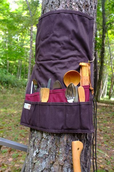 Is that an apron used to organize camp? If so that is smart!