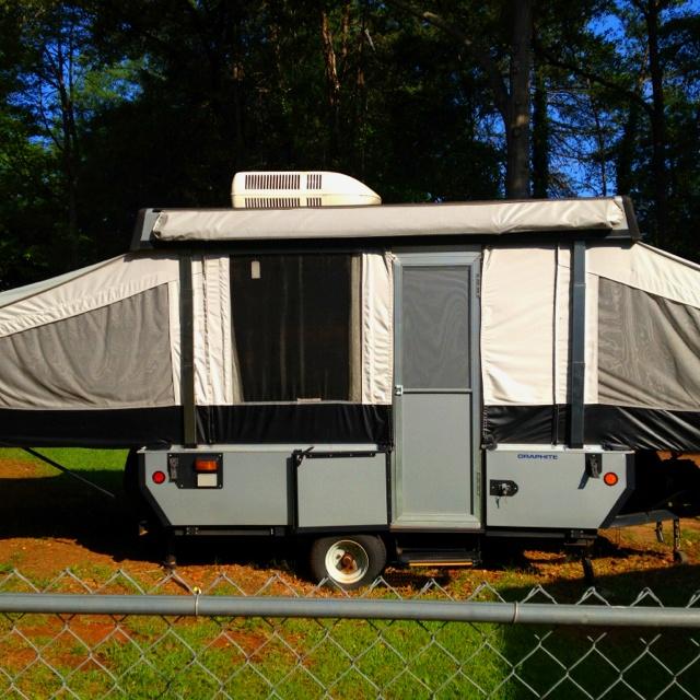 Fleetwood Graphite Pop Up Camper  travel  Pinterest