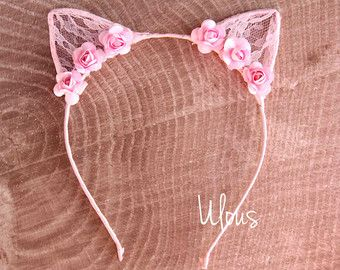 Cat Ears Animal Print Cat Ears Kids Cat Ears Costume Cat by Ulous