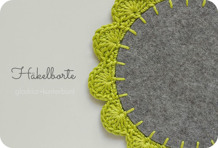 Fabulous crochet edging Tutorial - in German but with very clear pictures that would be easy to follow #crochet #edging #tutorials