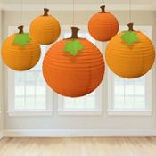 pumpkin paper lanterns @party city $8.99