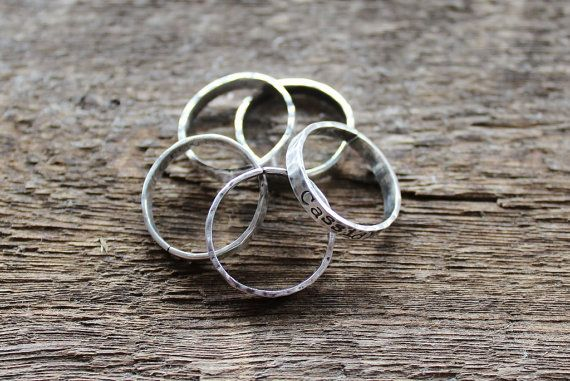 Personalized Sterling Silver Ring Set 3 by 2sistershandcrafted, $102.00