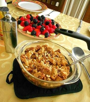 Still channeling the holidays? Try making this Holiday Nog Bread Pudding (#Gluten & #DairyFree!)