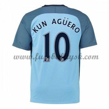 Premier League Fussball Trikots Manchester City 2016-17 Kun Aguero 10  Heimtrikot Kurzarm