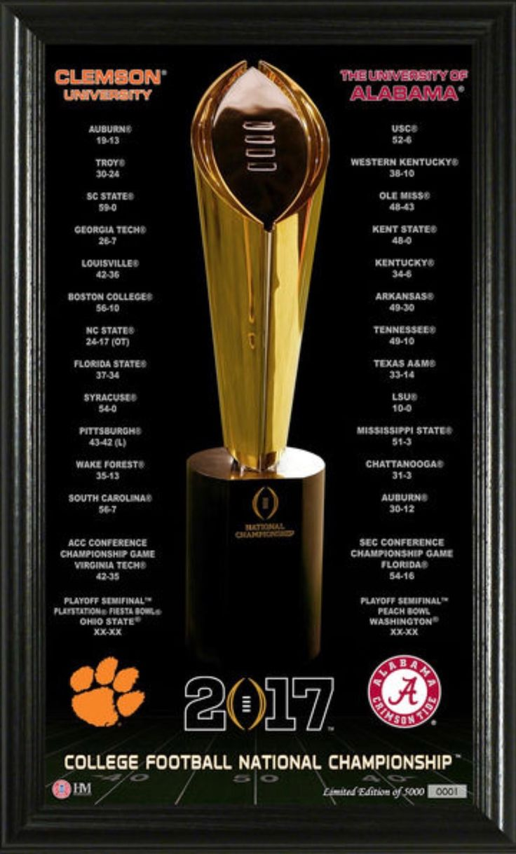 Alabama Crimson Tide vs. Clemson Tigers Highland Mint College Football Playoff 2017 National Championship