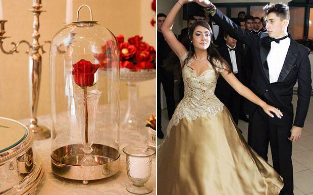 """Bruna Rebelatto dividiu com o irmão uma festa inspirada em """"A Bela e a Fera"""""""