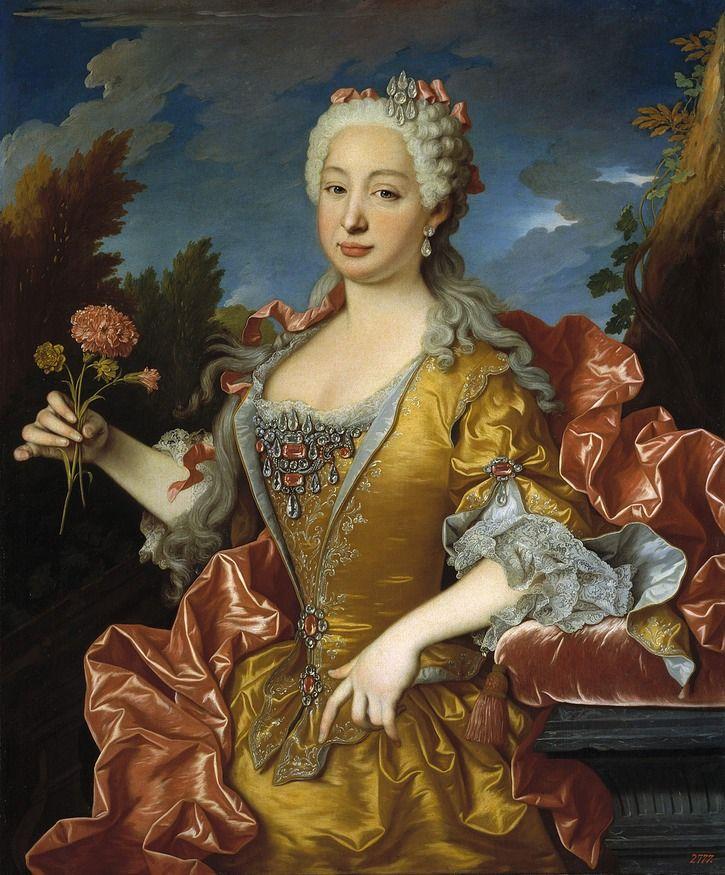 ca. 1729 Queen María Bárbara of Spain, née Portugal by Jean Ranc (Museo Nacional del Prado - Madrid Spain)