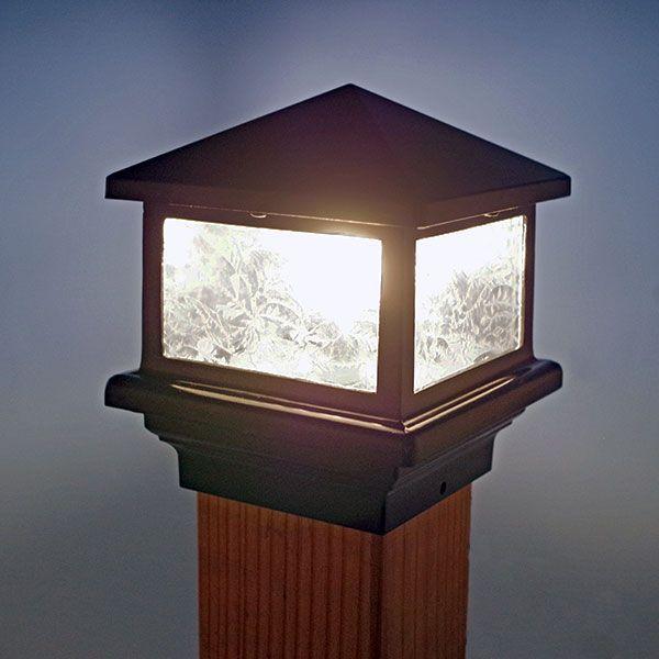 Sirius Post Cap Light By Aurora Deck Lighting | Deck ideas ... on small rustic flower garden ideas, vinyl fence lighting ideas, wood fence lights home design ideas,