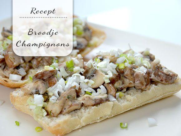 Wil je eens iets anders eten tijdens de lunch? Maar dan een lekker broodje champignons!