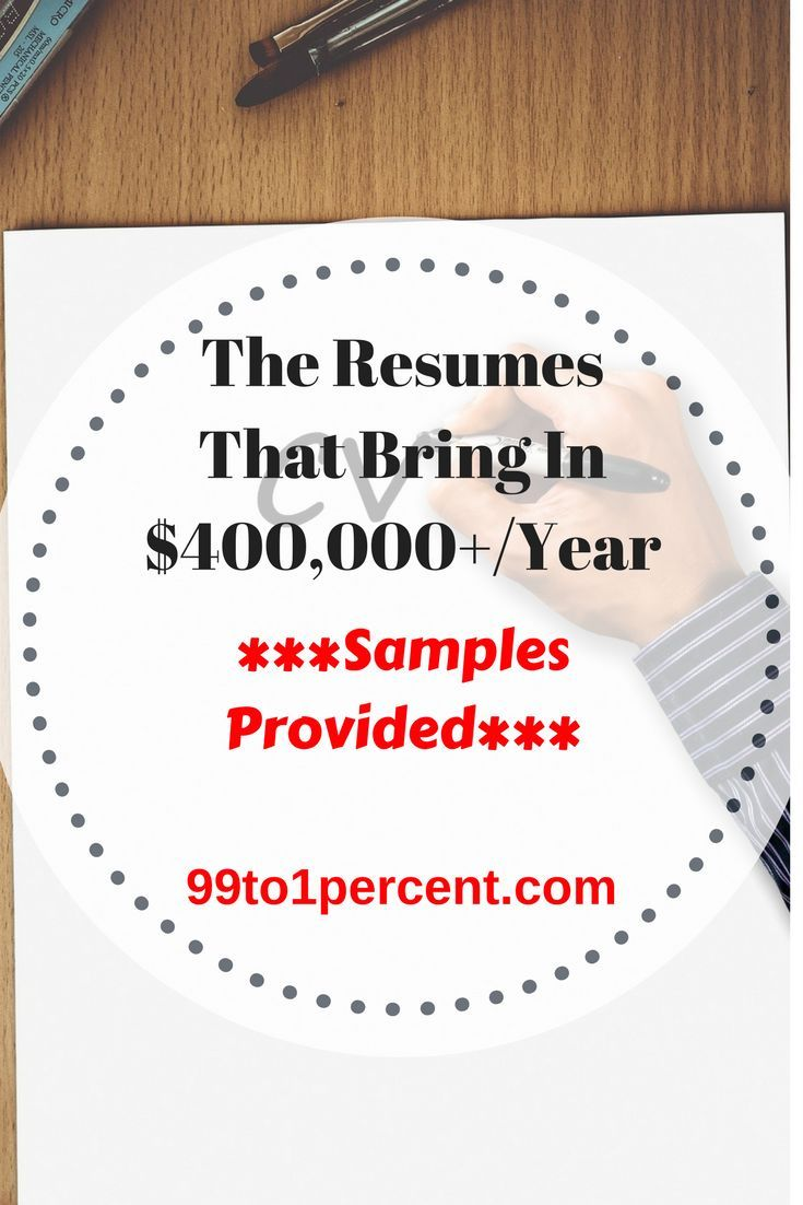 The resumes that bring in $400,000 /year #job #career #resume #resumes #FAMILY #RELATIONSHIPS #Money #FINANCIALINDEPENDENCE #FRUGALITY #MONEYSMARTS #PERSONALFINANCE #Millionaire #MillionDollarChallenge #MillionDollarClub #blog #blogging #DEBTFREE #Debt #Frugality #MakingMoney #Mortgage #networth #Personal #Finance#Progress #prosperity #ragstoriches #Saving #spendingmindfully #startedfromthebottom #Studentloans #Successstories #success #rich #riches #money #retirement #early #FIRE