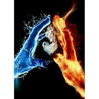 Ice And Fire Hands Partial Drill DIY Diamond Painting 5D Embroidery Art Craft