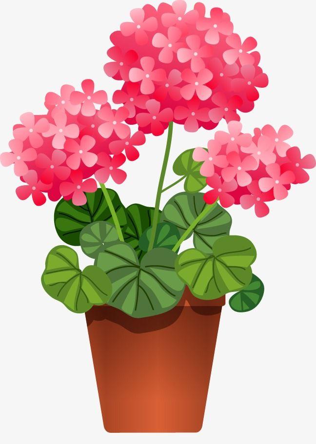 Vector Hojas Verdes Macetas De Flores Dibujos De Macetas Clipart De Flor Arte Con Flores