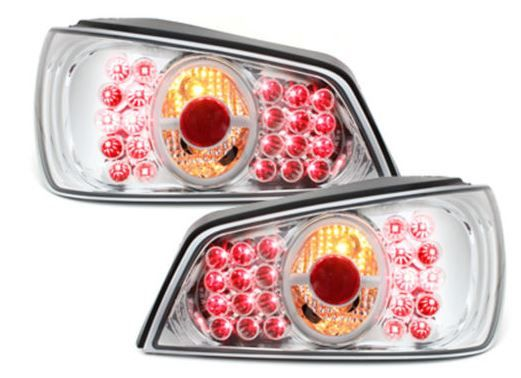 Peugeot 306 1993-2002 Hatchback Chrome Lexus Style Rear Tail Lights