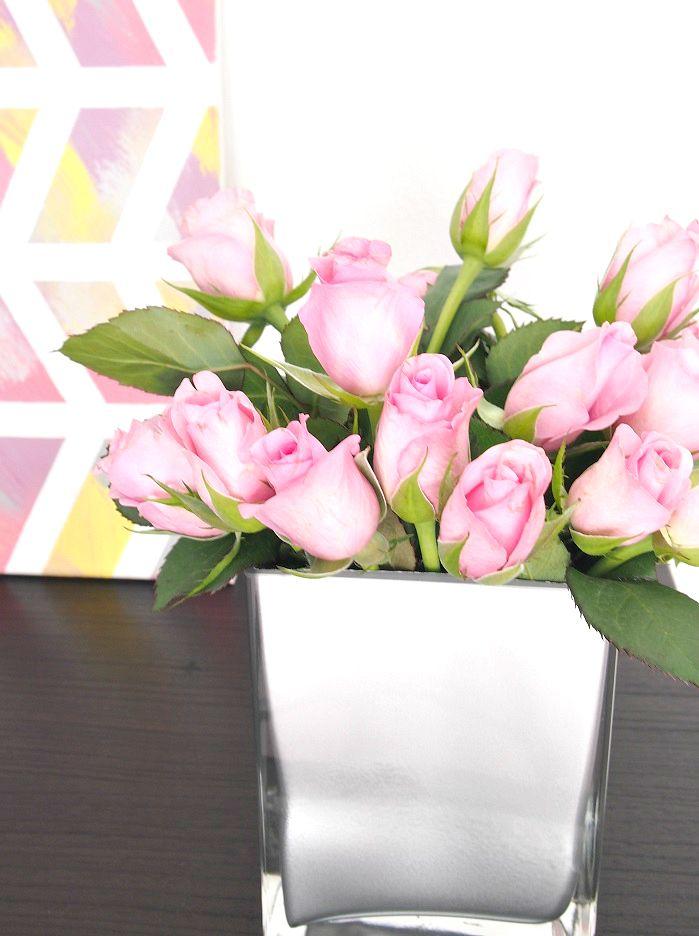 Vase rosa Rosen