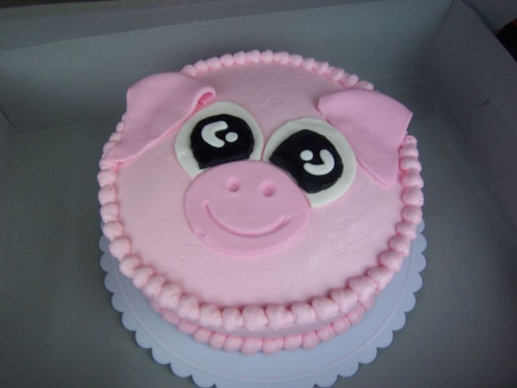 Pig cake, like the eyes