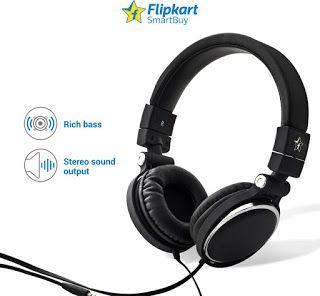 Flipkart SmartBuy Wired Headset With Mic(Black)        Laptop, Audio Player, Studio Recording, Tablet, Television, Mobile  Design:...