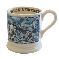 Our commemorative mug features a charming illustration of Kenwood House and the Dairy by Emma Bridgewater's husband, Matthew. It is made of cream-coloured earthenware in Stoke-on Trent. Each mug is individually hand-decorated, making each one unique. Hand-decorated and Made in England. This mug has been made exclusively for English Heritage with 50% of sales going directly towards the Caring for Kenwood project. You can find out more about the project here.