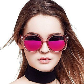 Bluekiki Polarized Mirror Fashion Oversized Round Women Sunglasses