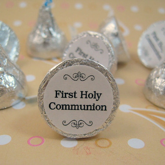 First+Holy+Communion+Hershey+Kisses+Stickers+Labels+by+WUYfavors,+$9.00