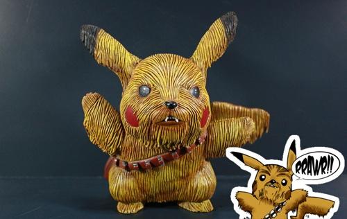 Pikachewie I choose you!Starwars Pikachu, Pikachewi Starwars, Kodykoala Custom, Geeky Art, Custom Figures, Stars Wars, Kodykoala Pikachewi, Custom Pikachewi, Geeky Awesome