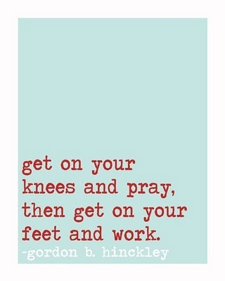 Its the only way....have faith and work hard