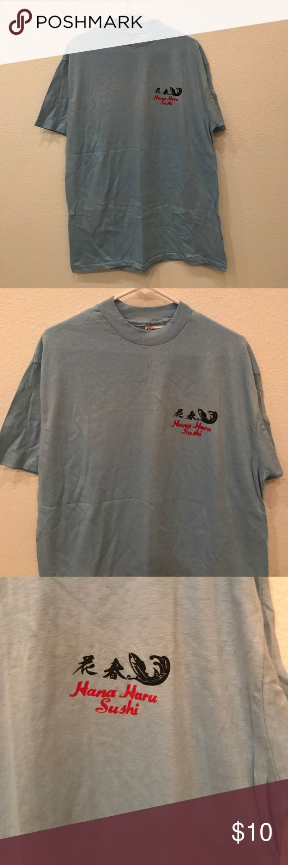 Vintage Hana Haru Sushi Blue T-Shirt Size XL Vintage Hana Haru Blue T-Shirt Size XL, Brand New, Never Worn or Used. All bundles of 2 or more receive 20% off. Closet full of new, used and vintage Vans, Skate and surf companies, jewelry, phone cases, shoes and more Hana Haru Shirts Tees - Short Sleeve