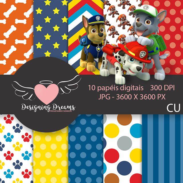 MEGA KIT DIGITAL PATRULHA CANINA GRÁTIS PARA BAIXAR 40 PAPEIS+ DE 60 CLIPARTS - Cantinho do blog