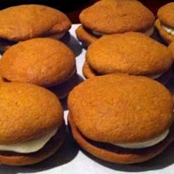 Yummy pumpkin whoopie pies recipe from Amy Bouchard of Maine's famous Wicked Whoopies whoopie pie bakery!