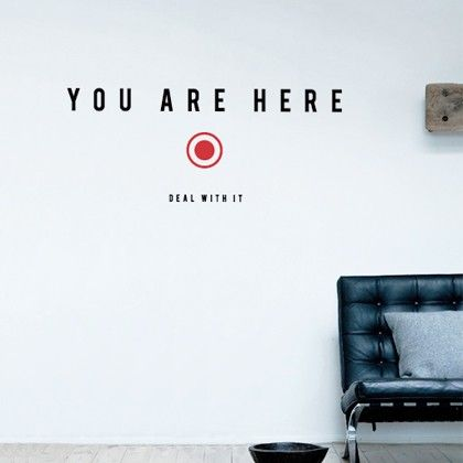 you are here sticker autocollant par antoine tesquier tedeschi sur allpostersfr - Wall Designs Stickers