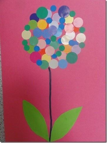 Flor amb gomets (P3)