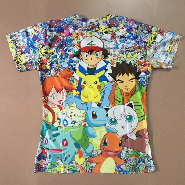Pokemon Pikachu And Crew Special Edition 3D Print Shirt. Great Pokemon gift to give or to collect!