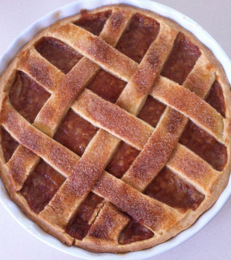 Apple & pear cinnamon lattice tart