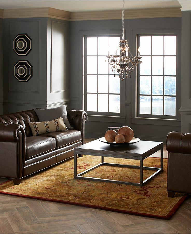 Clyde leather living room furniture sets pieces furniture macys