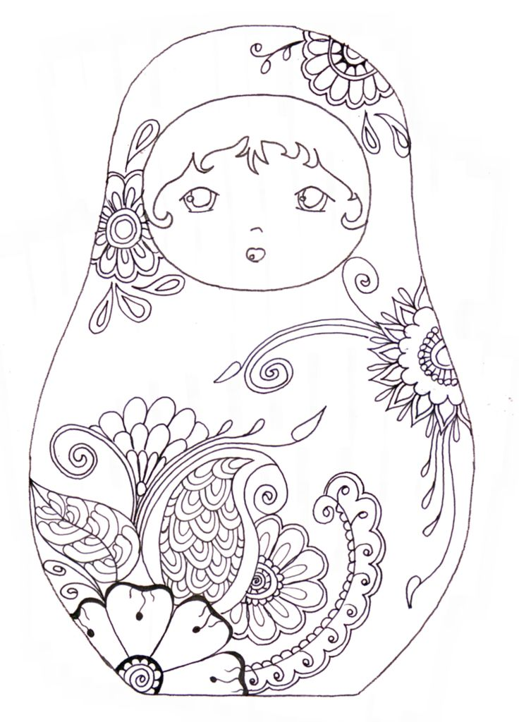 Matryoshka / coloriage I admit, I still like to colour & these would be fun to fill up!