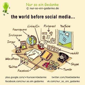 Nur so ein Gedanke  .. the world before social media ..