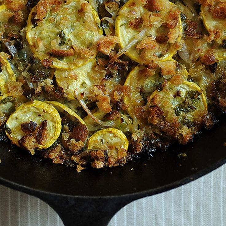 Summer Squash Gratin with Salsa Verde and Gruyere Recipe on Food52 recipe on Food52