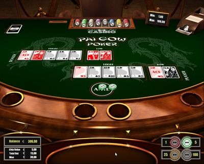 """Pai Gow Poker"" is a variant of the Chinese domino game Pai Gow. It is played with a 53-card deck including one joker. The player and dealer are getting 7 cards each which are used to combine two hands on each side. One hand represents a typical 5-card stud poker hand and the second hand is represented only by a pair of cards. The player and the dealer hands are competing with the other sides counterpart where each hand is ranking individually. Register here http://casino-goldenglory.com/?"