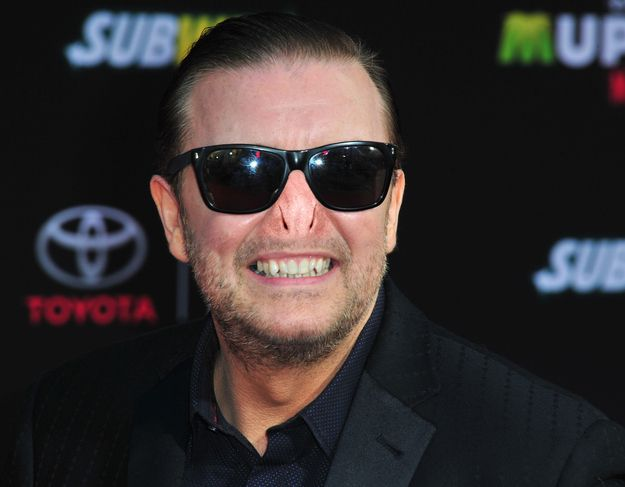 Ricky Gervais. | 13 Celebrities With Voldemort's Nose