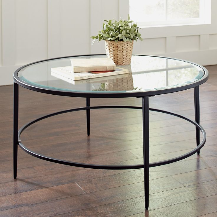 30 Round Glass Top Coffee Table