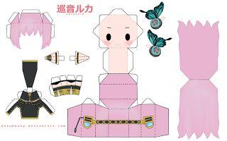 Papercraft Anime Chibi: Papercraft Anime Chibi