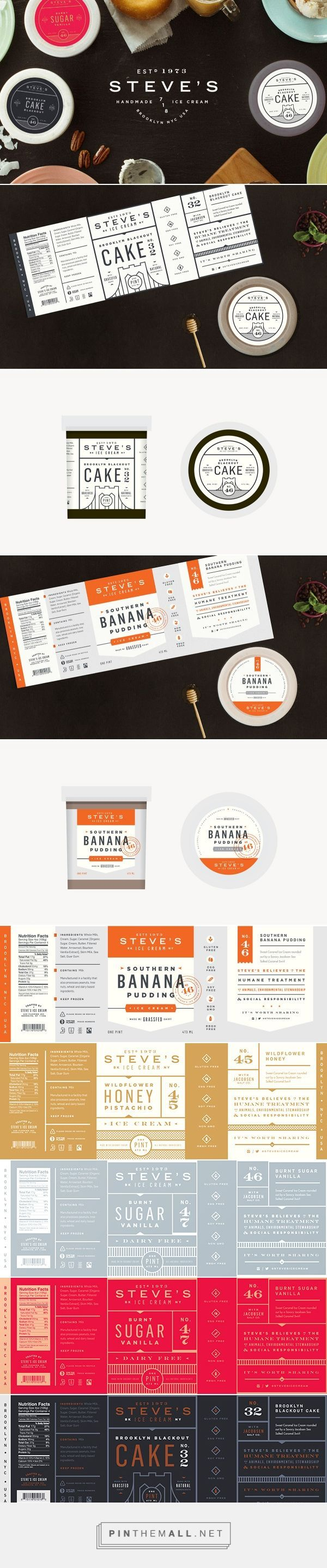 Steve's Ice Cream Brand by Chris Allen. Source: Packaging on Packaging Design Served. Pin curated by #SFields99 #packaging #design