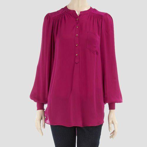 moda blusa de gasa patrón para las mujeres