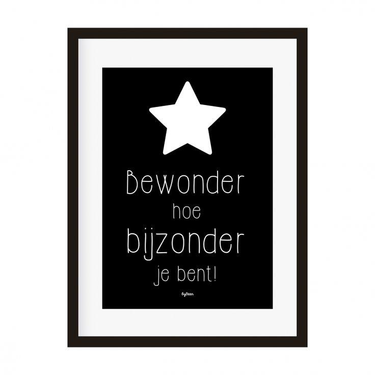 Poster 'Bewonder hoe bijzonder je bent!'