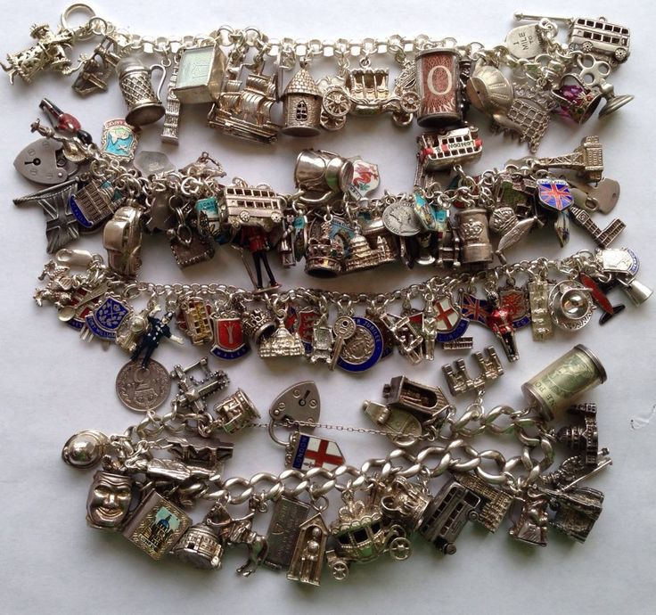 eCharmony Charm Bracelet Collection - England & English UK Vintage Charms
