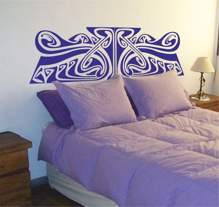 Vinilo decorativo cabecero de cama art noveau 2.