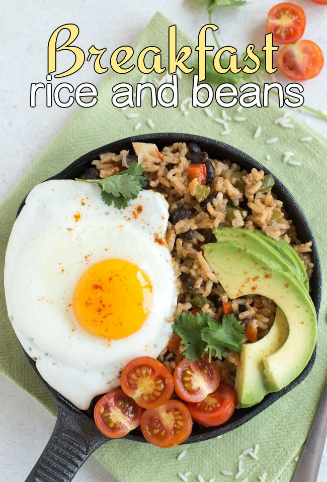 Breakfast rice and beans - my own take on a Costa Rican dish called pinto gallo…